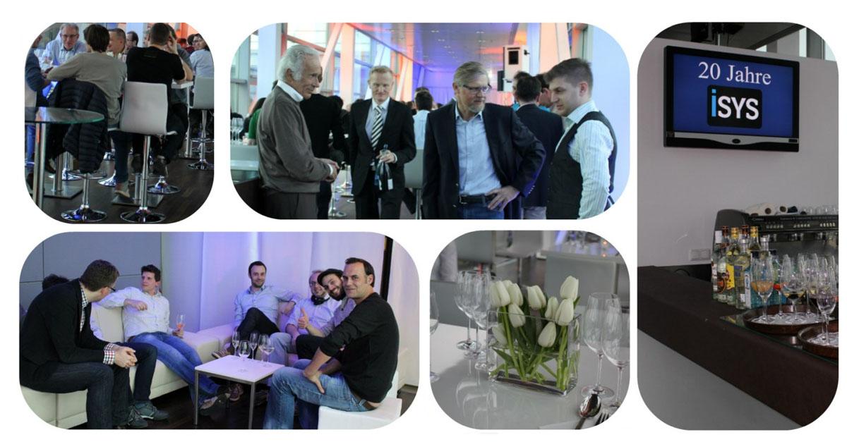 Die iSYS Software GmbH aus München hat ihr 20-jähriges Jubiläum in den Ten Towers am Leuchtenbergring gefeiert