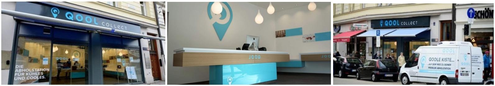 Abbildung: QOOL collect Store am Max-Weber-Platz 1 in München